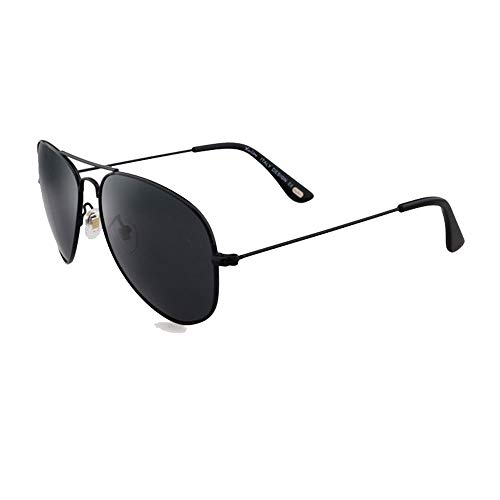 Wangwen Herren Sonnenbrille Polarized UV 400 Protection Fashion Style Von LUENX (Color : Black)