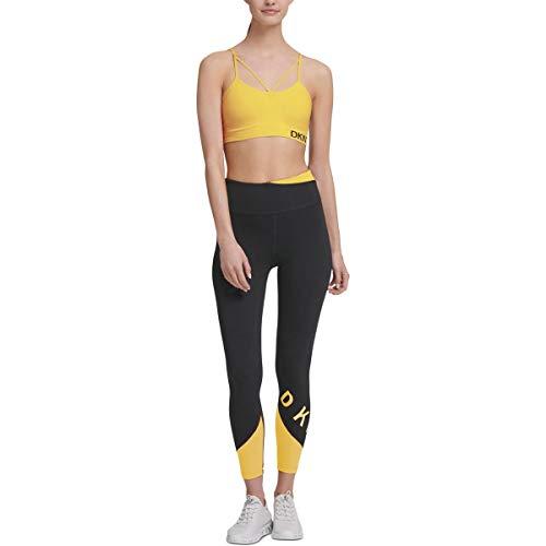 DKNY Sport Womens Running Fitness Leggings Black XS