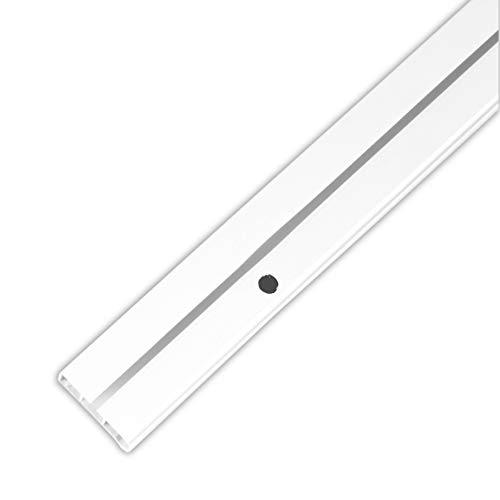 Bestlivings Gardinenschiene bis 480cm Länge, 1 bis 3 Lauf (90 cm / 1 Lauf), inkl. Zubehör. Für Schiebevorhang oder Kräuselband Gardinen
