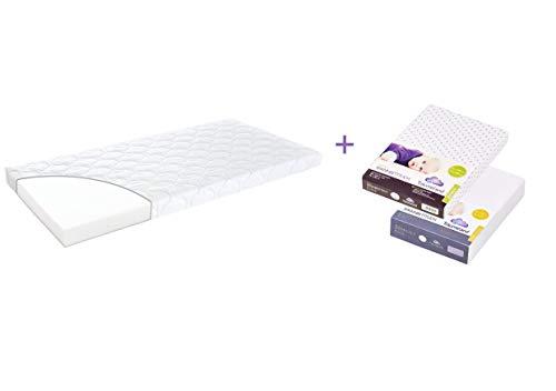 Träumeland A000065 Matratze EASY 70 x 140 cm + zwei passende Spannbetttücher, mehrfarbig