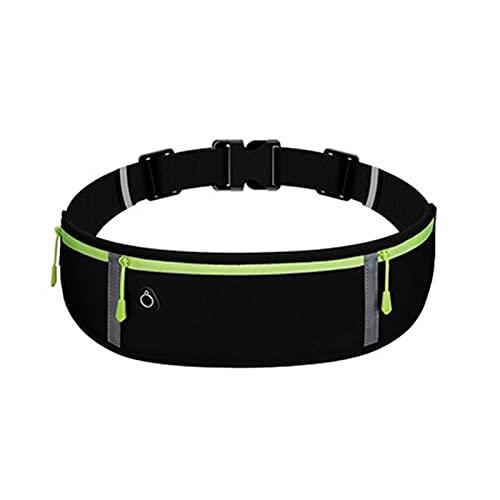 Riñonera para correr con banda elástica ajustable impermeable, gran capacidad a prueba de sudor con tira reflectante y agujero para auriculares, adecuado para correr, ejercicio, deportes al aire libre
