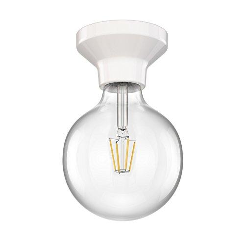 ledscom.de LED Deckenleuchte Elektra Porzellan Kugel inkl. E27 G125 Lampe 6W=60W warm-weiß 800lm