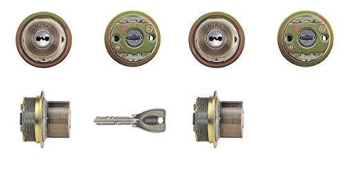 2個同一セットMIWA(美和ロック) PRシリンダー LIXタイプ 鍵 交換 取替え MCY-497 TE0 LIX