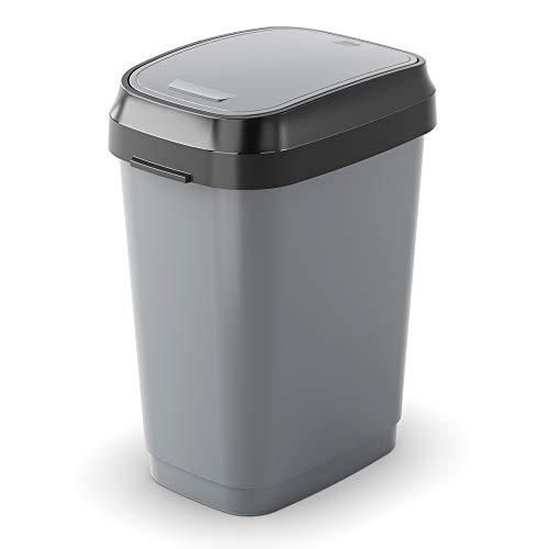 Kis Poubelle Plastique Gris Anthracite 50 litres