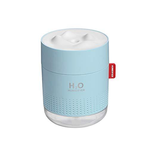 Humidificador de Aire, Humidificador de Niebla Ultrasónico USB 500ml 12-18h Tiempo de Pulverización Apagado Automatico Humidificador Para Uso en el Hogar, la Escuela, la Oficina y el Automóvil