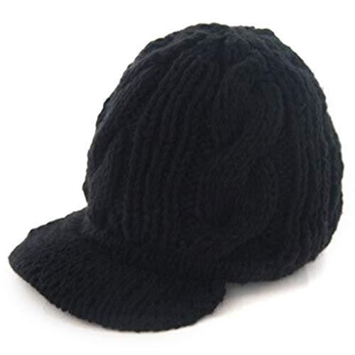 teng hong hui Las Mujeres hicieron Punto los Sombreros de ala del Casquillo Señora Skullies Tapa de Otoño Invierno de Punto Muchacha del Sombrero de ala Warm Franja Skullies Cap