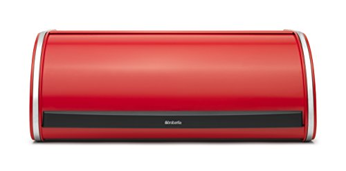 Brabantia Roll Top Bread Box, Red Color - Large
