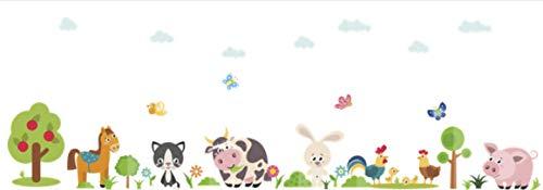 Muurstickers, Mooie Dieren Boerderij Woondecoratie Kinderkamer Slaapkamer Koe Paard Varken Kip Muurschilderingen Diy Pvc Muur Sticker