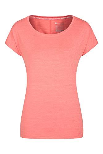 Mountain Warehouse IsoCool Dynamic Panna Lockeres T-Shirt für Damen - Leichtes T-Shirt, Sommershirt, antibakterielles Oberteil, T-Shirt - Für Fitness, Laufen Koralle 44