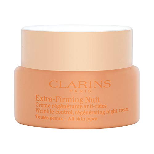 Clarins Extra Firming Crema Notte Liftante e Rigenerante Anti-Rughe per Tutti i Tipi di Pelle, 50 ml