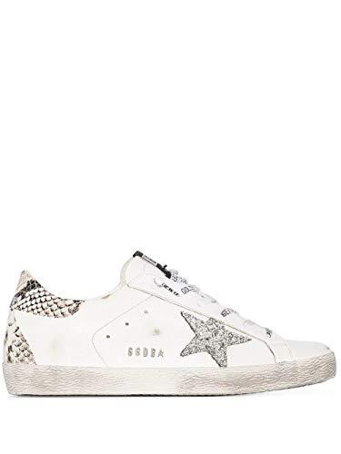 Moda De Lujo | Golden Goose Mujer GWF00102F00076110402 Blanco Cuero Zapatillas | Temporada Permanente