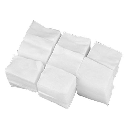 Kentop 900 pcs Algodón Celuloso Toallitas Limpiador Uñas Blanco Manicura Remover Cleaner