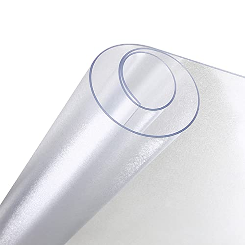 WJDY Redondo Protector Mesa Transparente, Helado Mantel PVC Transparente, Tapete Impermeable para Mesa De Centro y Mesa De Comedor (Color : 2mm, Size : Diameter 125cm)