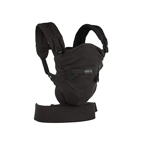 Babylonia Click - Mochila portabebés (100% algodón orgánico), color negro