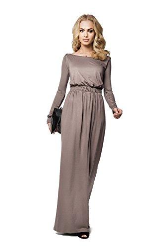 FUTURO FASHION - Elegantes Maxi-Dress mit Empire-Linie - bodenlang - weiter U-Ausschnitt -...
