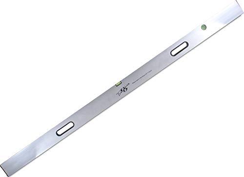 TrendLine Richtlatte 2,5 m mit 2 Libellen Aluminium Abziehlatte Setzlatte