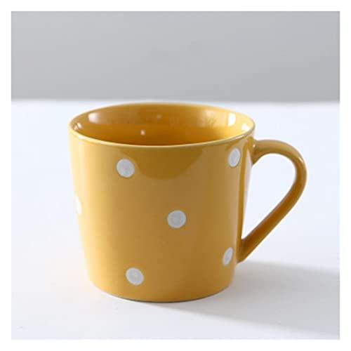 tazas de porcelana 1 unids 200ml Punto de onda multicolor Punto de agua Copa de cerámica encantadora Taza de la taza de cerámica Creative Personalidad Inicio Desayuno Leche Tazas de jugo de café tazas