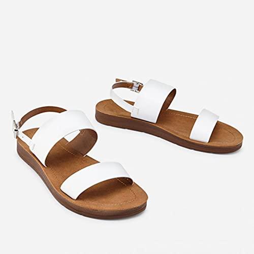 WXDC Summer Rome Retro Grueso Fondo Sandalias de Punta Abierta, Zapatillas de Zapatos Casuales para Mujer, Slip de Playa en Diapositivas de diseño de Marca