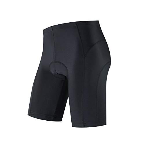 logas Fahrradhose Herren Kurz Gepolstert MTB Kleidung Schwarz Schnelltrocknende Radsport-Shorts