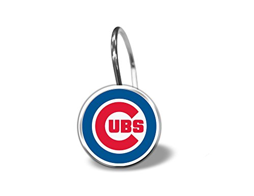 Chicago Cubs Shower Curtain Rings - Set of 12