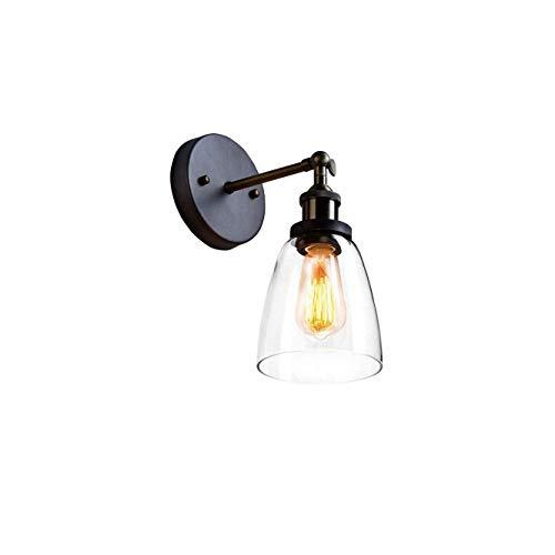 CLAXY Vintage E27 Wandleuchten Deckenleuchten Schwenkbar Glas Lampenschirm für Haus Dekoration