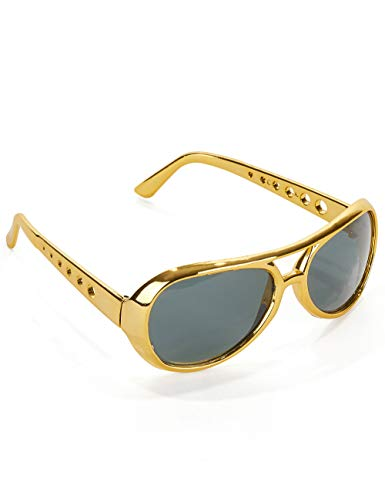 Elvis Shades, Presley Licensed Fancy Dress, Movie and TV Characters, Music And Entertainment, Mens (Déguisement)