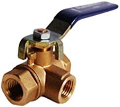 Legend Valve 101-443 Three-Way Forged Brass Ball Valve, 2.8