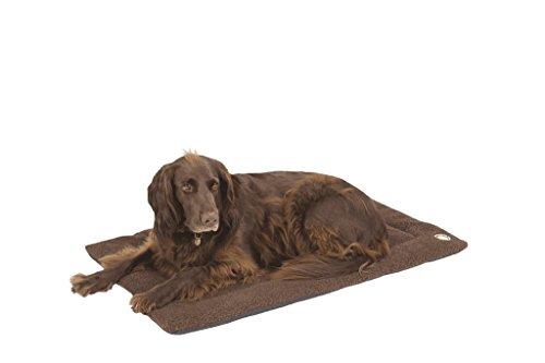 Hundebett / Hundekissen Doggy Wolldecke Gr. M braun