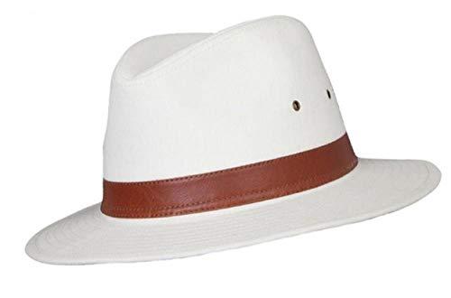 Chapeau fedora A232 Homme Coton - Beige - petit