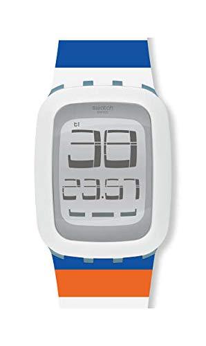 Swatch Unisex– Erwachsene Digital Touchscreen Uhr mit Silicone Armband SURS102E