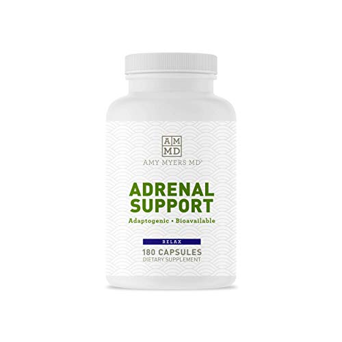 Dr. Amy Myers Adrenal Support - Best Natural Formula to Support Adrenal Fatigue, Cortisol Health, Stress Relief - Ashwagandha, Rhodiola Rosea, Riboflavin, Vitamin C, B6 + More - 180 Capsules