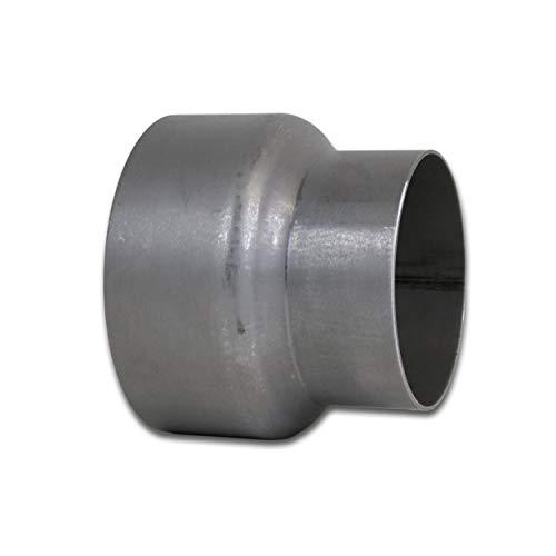 LANZZAS Rauchrohr Ofenrohr Reduzierung Ø 150 mm auf Ø 120 mm unlackiert Kaminofen Rohr Reduktion Ofenrohrreduzierung