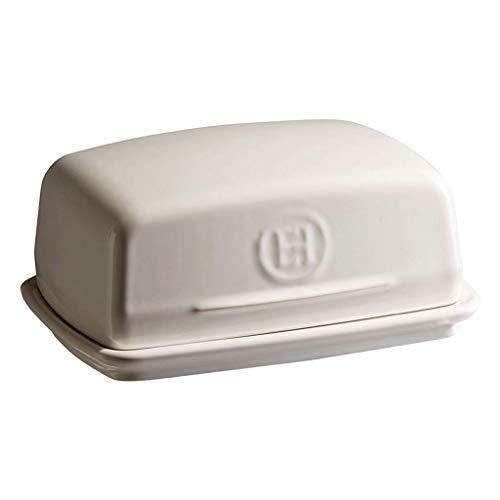 Plato de mantequilla Bandeja de cerámica suavizar mantequilla, la caja for el Mueble de cocina Frigorífico, mantequilla Caja con tapadera 6.7in platos de mantequilla con tapa ( Color : White )