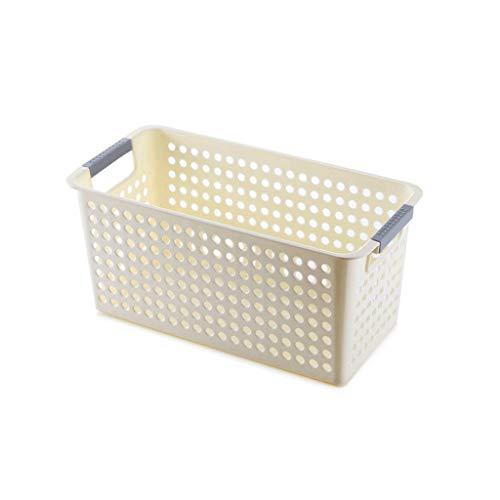 XXT-Sunshine Canasta de Almacenamiento Canasta de plástico for refrigerios Canasta de Almacenamiento Cuadrada for el baño Canastilla pequeña Caja de Almacenamiento de cosméticos