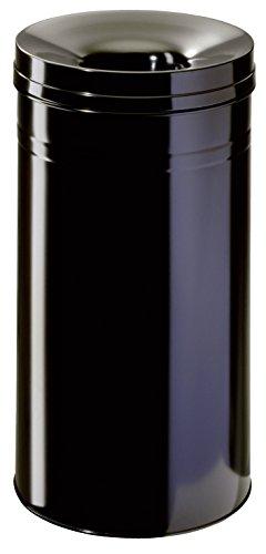 Durable 332701 Cesto de basura Caja fuerte redonda de 60 litros, negra