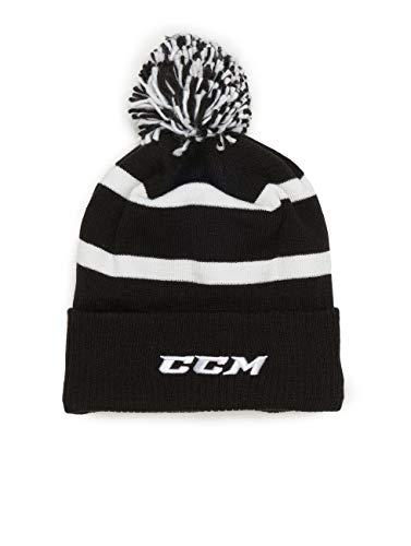 CCM Herren Wintermützen Team Fleece Cuffed Pom Knit schwarz Einheitsgröße
