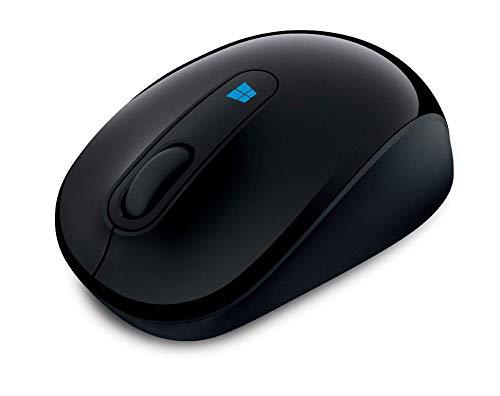 Microsoft Sculpt Mobile Mouse (Maus, schwarz, kabellos, für Rechts- und Linkshänder geeignet)