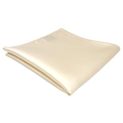 TigerTie Designer Einstecktuch in creme beige elfenbein einfarbig uni
