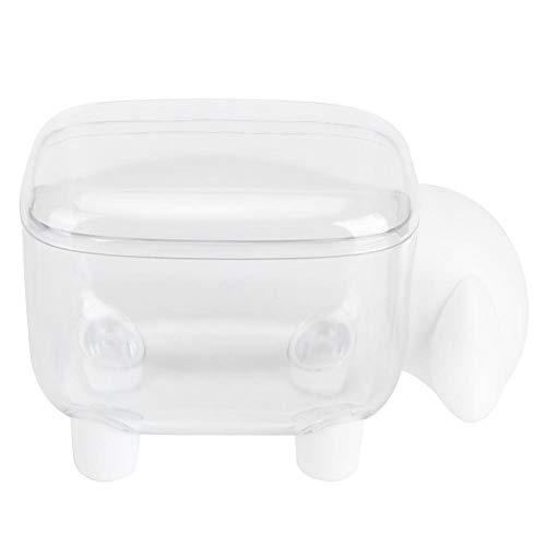 VIFER Porte-Coton-Tige Organisateur de Papeterie Coton-Tige Boîte Mignon pour Les Cotons-tiges Éponges de Maquillage(Mouton Blanc)