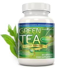 Green Tea Extra Strength 10,000mg with 95% Polyphenols, 90 Capsules (1 Month), Evolution Slimming