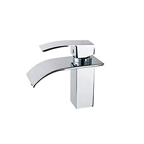 ZXY-NAN Faucet Modern Design Single Handle Stainless Steel Waterfall Bathroom Faucet Daily Use, Durable Faucet Water Filters