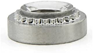 1//4-20 Thd x .125 thk Unicorp EF-0420-3 Hex Captive Nut Self-Clinching Stainless QTY-10