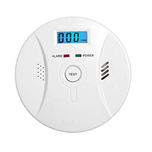 Odoukey CO Alarmdetektor, Rauch Kohlenmonoxid-Alarm mit LCD-Anzeige, Sprachbenachrichtigung, für häusliche Gasleckage