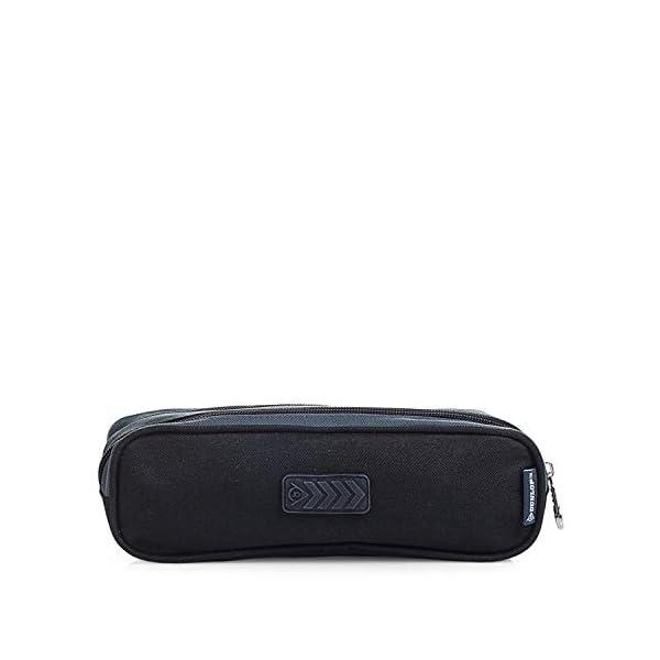 316BfFD46mL. SS600  - DUNLOP - Estuche Plumier Portatodo con Doble Bolsillo Independiente con Cremallera. Muy Resistente. Poliéster. Diseño. 01918, Color Gris