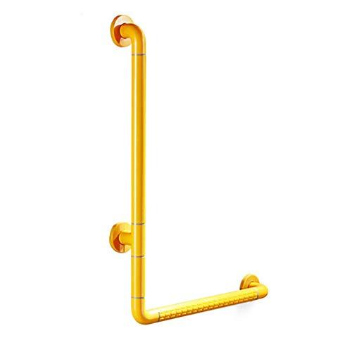 Mjb Grab Rails corrimano bagno antiscivolo antiscivolo in acciaio inox (colore: giallo, dimensioni: 50 x 70 cm)