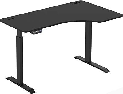 SHW 55-Inch Large Electric Height Adjustable Computer L-Shaped Desk, Black