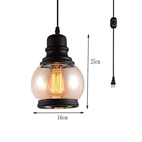 CKQ-KQ Hanglampen glazen kroonluchter met Plug Wire en Aan/Uit Dimmen Household Verlichting Plafond Kroonluchter (Color : A)