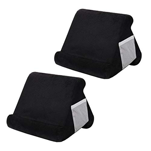 CUTICATE 2 X Soft Pillow Stands for Tablet Book Reader Holder Rest Cushion Black