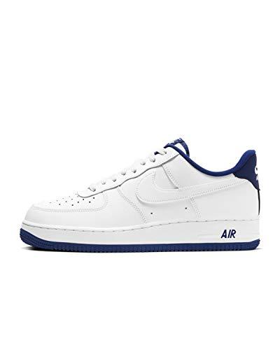 Nike Mens Air Force 1 '07 White/Deep Royal Blue/White CD0884-102 Size 10.5