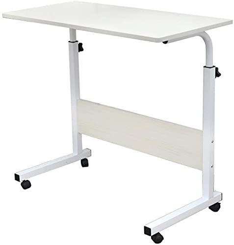 Rubyurphy Mesa portátil móvil, escritorio ajustable de altura de pie, escritorio de pie portátil, blanco, 40 x 60 cm